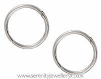 Studex silver hinged hoops