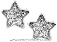 Studex Sensitive surgical steel star glitter earrings