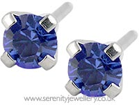 Studex Sensitive surgical steel sapphire tiffany earrings