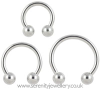 Surgical steel circular barbell