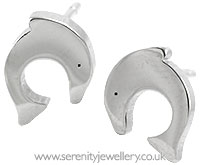 Surgical steel dolphin stud earrings