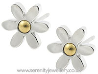 Surgical steel daisy stud earrings
