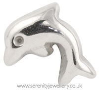 Surgical steel screw-on dolphin