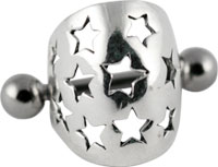Surgical steel stars ear cuff