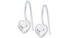 Blomdahl medical plastic heart fixed pendant earrings